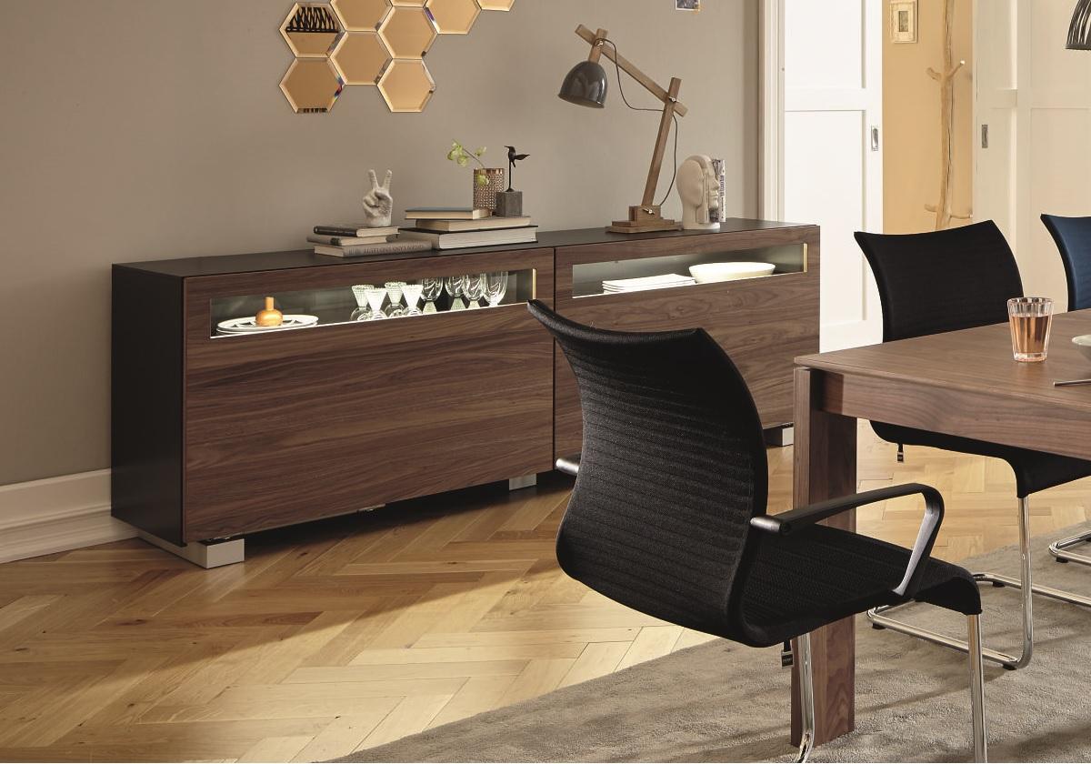 now vision sideboard with sliding doors hulsta webstore. Black Bedroom Furniture Sets. Home Design Ideas